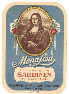Mona Lisa sardines label