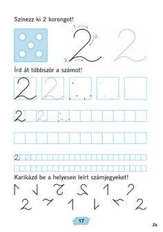 Mozaik Számvázoló 1 - Kiss Virág - Picasa Webalbumok Cursive, In Kindergarten, Karma, Alphabet, Preschool, Teaching, Activities, Writing, Grade 1