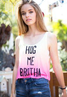 Hug Me Brotha Crop Top