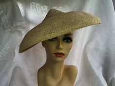 Authentic Vintage 1940s widebrimmed hat by TheHatMuseum on Etsy, $35.00