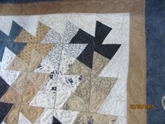custom quilting on twister wall hanging for customer
