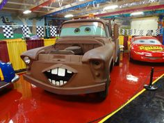 Matter and Lightning McQueen part of the new exhibit at the Volo Auto Museum, Volo, IL.   www.volocars.com