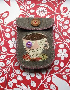 Time for tea? Felt pouch | Flickr - Photo Sharing!