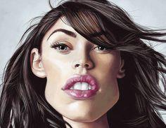 Caricatura de Megan Fox.