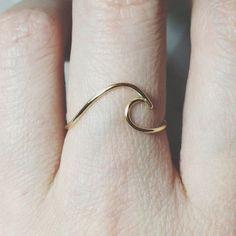 925er Silber Ring-Wave/Gold gefüllt Draht Surf von BeadsLearnToRock