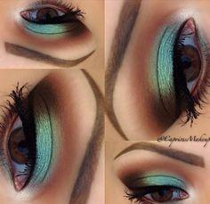 In love with metallics - #metallics #eyemakeup #eyeshadow #eyes #greenshadow #mintshadow - Love beauty? Go to bellashoot.com for beauty inspiration!