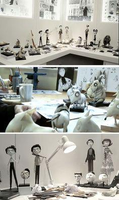 From Tim Burton movie Frankenweenie Film Tim Burton, Tim Burton Characters, Tim Burton Art, Tim Burton Style, Estilo Tim Burton, Animation Stop Motion, Animation Film, Clay Animation, Animation Image Par Image