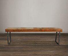 Banco de madera reciclada  60  por AtlasWoodCo en Etsy, $305.00