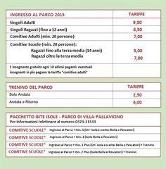 Villa Pallavicino - tariffe