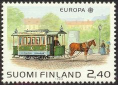 Postage stamp depicting a horse-driven tram in Helsinki Trains, Postage Stamp Art, Stamp Printing, Kingdom Of Great Britain, Penny Black, Horse Art, Mail Art, Stamp Collecting, Vintage Travel