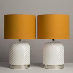 Glazed Ceramic Table Lamps | Tommaso Barbi | 1970s