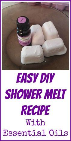 Two ingredient shower melt recipe with essential oils and arrowroot flour. This recipe doesn't require citric acid.