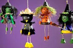 Macetas Recicladas para Halloween, Decoracion