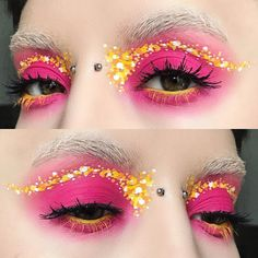 "10k Likes, 82 Comments - Katie Kelly ♀ (@kayteeellen) on Instagram: ""Cute little rainbow dot liner  wearing @sugarpill #poisonplum #acidberry #flamepoint…"""