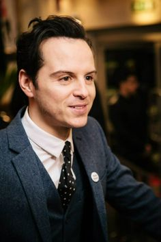 Andrew Scott- He scares me. He plays a psycho path, but he acts like one in real life too.