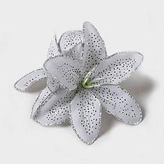 Glitter Lily Flower Clip