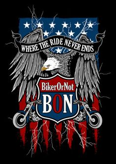 BikerOrNot Flag & Eagle (Ladies)