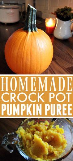 DIY Pumpkin Puree in the Crock Pot! | The Creek Line House