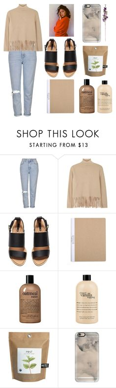 """""""Untitled #129"""" by deandelaina on Polyvore featuring Topshop, Boutique Moschino, H&M, philosophy and Casetify"""
