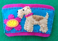 Lakeland terrier coffee cozy by Ecotrinkets - Amy Monthei