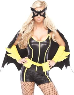 batgirl costumelove the stretch romper with yellow stripe detail loverslane superhero