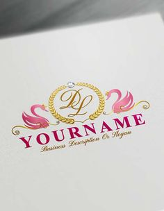 Create your own Free decorative Swans Logo Design using the best online Letters Logo Maker. Easily use the free logo maker software to make your own amazing Royal logo. We have of amazing royalty logo templates to choose from. Vintage Logo Maker, Vintage Logo Design, Letter Logo Maker, Monogram Maker, Alphabet Logo, Alphabet Letters, Logo Maker Software, Logo Creator, Best Logo Maker