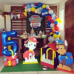 Paw Patrol Decorations, Balloon Decorations, 3rd Birthday, Birthday Ideas, Paw Patrol Balloons, Paw Patrol Party, Party Ideas, Fiestas, Manualidades