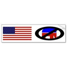 American Flag Anti-Republican bumper sticker