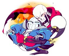 So cute, Pap and Sans are so cute together❤️❤️