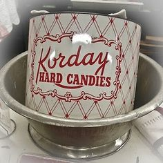 vintage candy tin . . .
