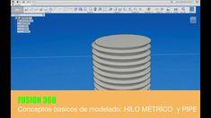 FUSION 360 #17 HILO METRICO y PIPE