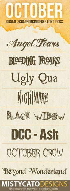 October Free Font Picks