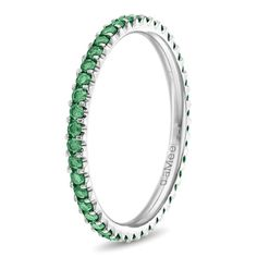 An emerald band - how pretty! but in Yellow gold