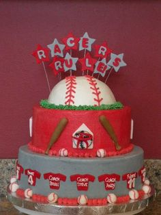 baseball team cake---might have to recreate this one sometime