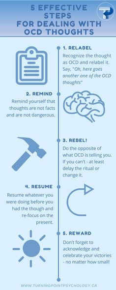 5 Effective Steps for Dealing with OCD Thoughts- Feel Awesome Company Ocd Intrusive Thoughts, Ocd Thoughts, Therapy Worksheets, Therapy Activities, Cbt For Ocd, Pure O Ocd, Ocd Brain, Ocd Therapy, Frases