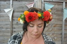 Floral headdress, designed by Love Grows Wild.