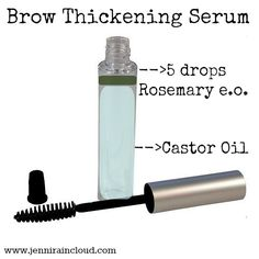 DIY Brow Thickening Serum : only 2 ingredients! 1-2 weeks for results