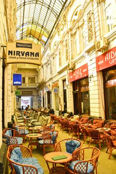 Pasajul Villacros (covered passage) - a covered shopping street in Old Town Bucharest. Leigh and Van Ort Jacobs - can you believe we were just there? Brasov Romania, Bucharest Romania, Dream Vacation Spots, Dream Vacations, Nirvana, Scenic Photography, Night Photography, Landscape Photography, Shopping Street