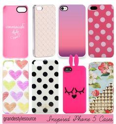 """inspired iphone 5 cases"" by iheartallstars ❤ liked on Polyvore"
