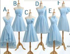 One shoulder Bridesmaid Dress,Custom made Bridesmaid Dress,blue Bridesmaid Dress, short Bridesmaid Dress plus size,V-neck Bridesmaid Dress on Etsy, $103.81 CAD