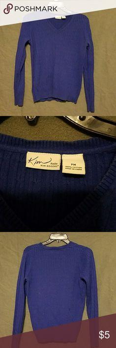 Kim Rogers blue sweater PM Long sleeve blue sweater Kim Rogers Sweaters V-Necks