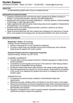 Resume Templates To Highlight Your Accomplishments  Job