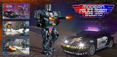 ModernPoliceRobotSquad War is a simulation #fighting and #actiongame. You are there in a modern robot. Try out all you're shooting, Boxing and other fighter skills. #Alienattack on earth. Alien robots everywhere and these wicked robots are taking over the world city by city. Now they are heading towards your town. Play now