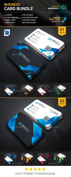 Business Card Bundle 2 in 1 - Business Cards Print Templates Download here : http://graphicriver.net/item/business-card-bundle-2-in-1/16811906?s_rank=37&ref=Al-fatih