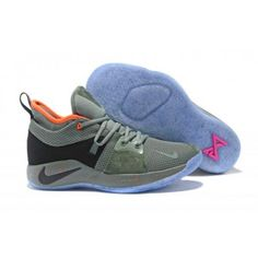 4cd992c2ca02 Durable Nike PG 2 Palmdale EP All Star Clay Green Grey Black Orange 300  Men s Basketball Shoes Male Sneakers