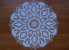 Tropical Mist Doily by E.Hiddleson & F. Anthony