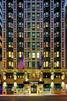 Algonquin Hotel, NYC [59 West 44th Street · New York, New York 10036 USA],  designed by architect Goldwin Starrett.  Opened in 1902.  Designated a NYC historic landmark.  Home to the literary-famous Algonquin Round Table.