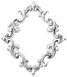 Great free clipart, png, silhouette, coloring pages and drawings that you can use everywhere. Printable Frames, Victorian Frame, Vintage Borders, Vintage Frames, Vintage Clip Art, Clipart Vintage, Borders And Frames, Frame Clipart, Ornaments Design