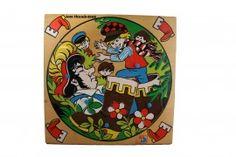 Vintage houten noppenpuzzel Klein Duimpje | Spellen  Puzzels | Leuke Kinderdingen