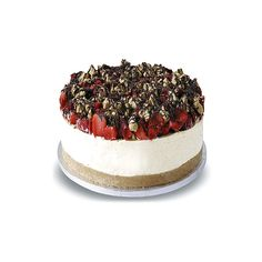 The English Cheesecake Company - SkyHigh 15-inch Giant Celebration So Much Strawberry Shortbread found on Polyvore featuring food and cakes